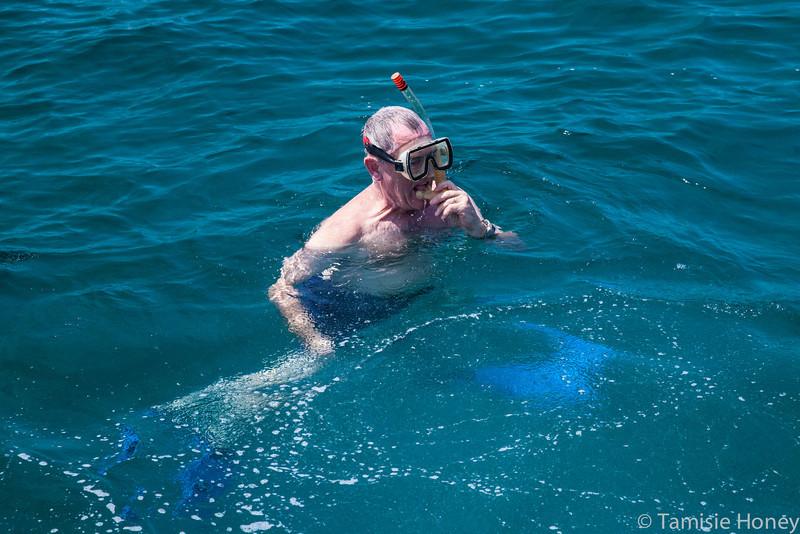 Steve Taylor snorkeling