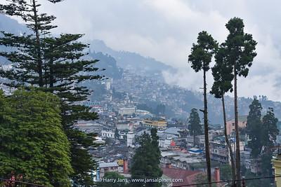 view over Darjeeling