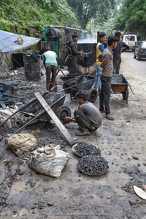 road workers in Sikkim