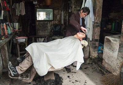 Anhui - falusi borbélyüzlet