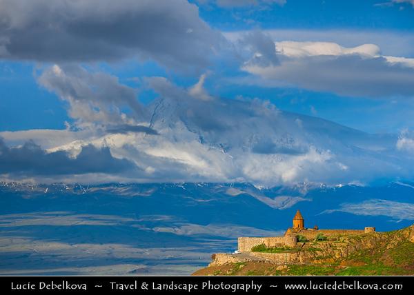 Armenia - The Khor Virap Monastery & Pilgrimage site - Խոր Վիրապ - Deep pit - Deep well - Armenian Apostolic Church monastery located in the Ararat plain