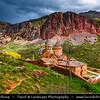 Armenia - Noravank - Նորավանք - New Monastery- 13th century Armenian Apostolic Church monastery in a narrow gorge made by the Amaghu river, nearby the city of Yeghegnadzor