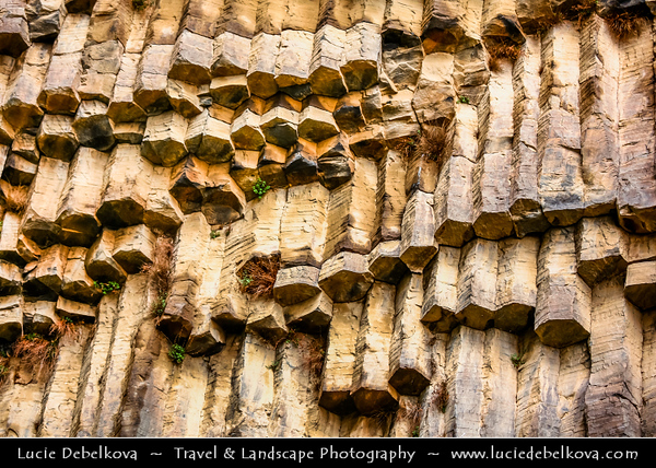 """Armenia - Garni Gorge with well preserved basalt columns, carved out by the Goght River - Typically referred to as the """"Symphony of the Stones"""""""