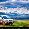 Armenia - Dramatic landscape Mountains of Vayots Dzor with snow covered mountain peaks