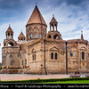 Armenia - Mother Cathedral of Holy Etchmiadzin - Echmiadzin - Մայր Տաճար Սուրբ Էջմիածին - Mayr Tajar Surb Ejmiatsin -  Holy Mother of God Church - UNESCO World Heritage Sites