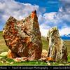 Armenia - Zorats Karer - Zorac' K'arer - Zorac Qarer - Zorakarer - Zorakar - Զորաց Քարեր - Karahunj - Carahunge - 6000 B. C. stoneage observatory - Menhir of Karahunj - Cara Hunge - Archaeological site near the city of Sisian in the Syunik province - Armenian Stonehenge