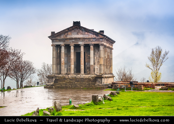Armenia - Garni - Գառնի - Temple complex in Kotayk Province - Peristyle temple situated at the edge of the existing cliff