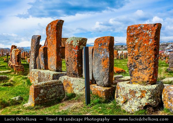 Armenia - Noraduz cemetery - Նորադուզի գերեզմանատուն - Medieval cemetery with a large number of early khachkars located in the village of Noratus, Gegharkunik marz near Gavar and Lake Sevan