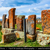 Armenia - Noraduz cemetery - Նորադուզի գերեզմանատուն - Medieval cemetery with a large number of early khachkars located in the village of Noratus, Gegharkunik marz near Gavar and Lake Sevan