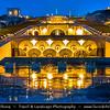 Armenia - Yerevan - Երևան - Capital & largest city of Armenia - One of the world's oldest continuously-inhabited cities - Cascades at Dusk - Twilight - Blue Hour