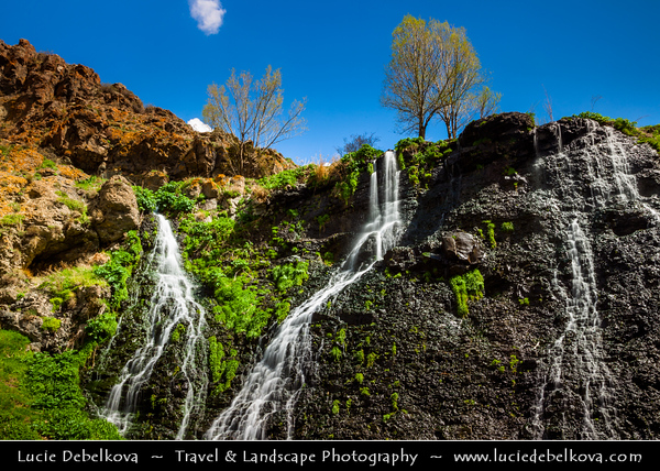 Armenia - Shaki - Sakeh Waterfall - Շաքիի ջրվեժ - Armenia's highest waterfall, with height of 18 m - Located in Syunik Province, flowing over rocky terrain in scenic surroundings