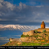 Armenia - The Khor Virap Monastery & Pilgrimage site - Խոր Վիրապ - Deep pit - Deep well - Armenian Apostolic Church monastery located in the Ararat plain