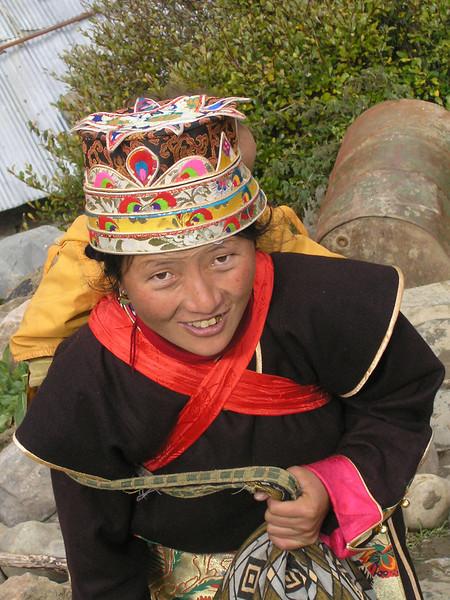 A Dregong villager