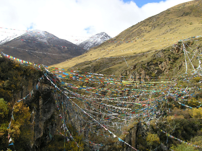 A valley of prayers, near Lhasa, Tibet