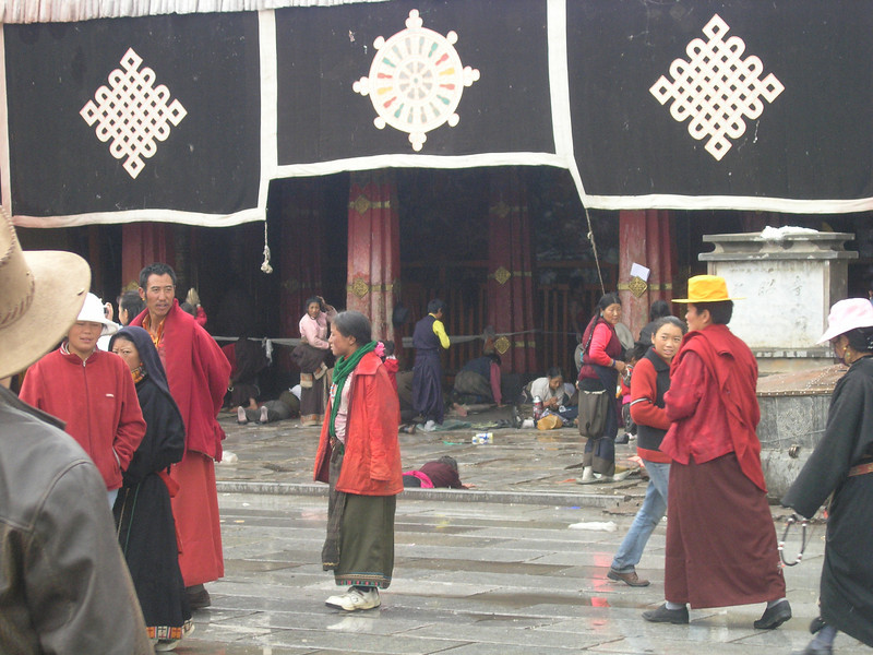 Pilgrims at the Jokang Temple, heart of Tibetan Buddhism, Lhasa, Tibet