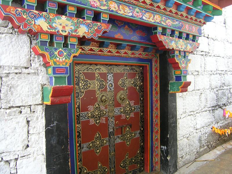 A doorway in Lhasa, Tibet