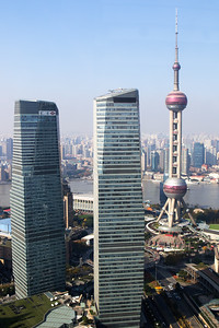 Shanghai City, view from the hotel
