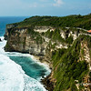 Dramatic cliffs carved by the sea in Uluwatu, Bali, Indonesia