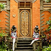 Ornate door of a temple in Ubud, Bali, Indonesia