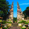 A typical balinese gate at the Nusa Dua Beach Hotel in Bali, Indonesia