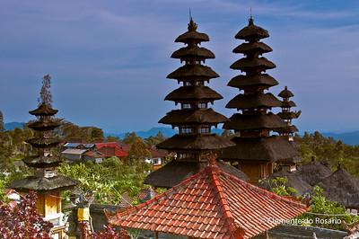 Pagodas (Meru) of Pura Besakih Temple, Bali, Indonesia