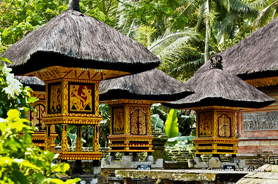 Courtyard of a temple in Bali, Indonesia