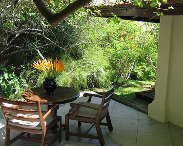 Our Bali Experience started out at Amanusa.  Our villa had a private courtyard.