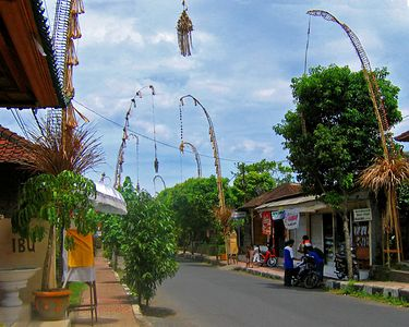 Typical street in a Balinese Village.