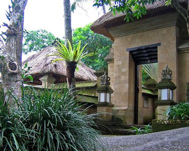 Our villa at Amandari was even nicer than the one we had at Amanusa.  We even had an outdoor sunken bathtub