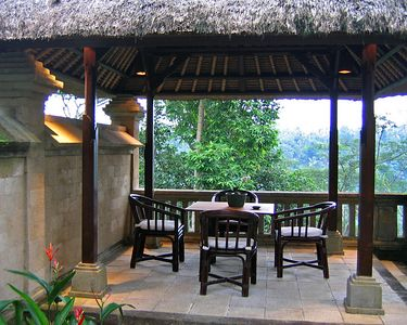 Our private dining area within the courtyard of our villa