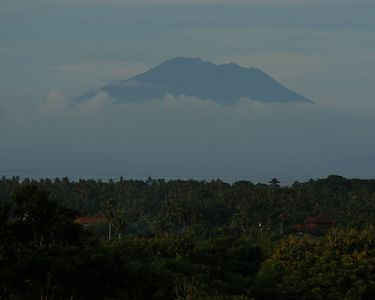 Our room looked toward Gunung Agung, the tallest mountain in Bali and a very sacred place to the Balinese.  The Amankila resort is located at the base of this mountain.
