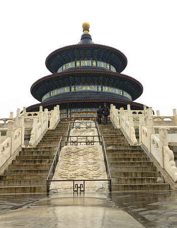 Temple of Heaven Center of this carved marble tablet (and the marble in the foreground) run through center of Beijing Photo © Donald C. Lawson III