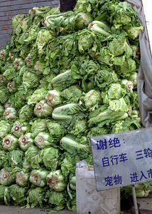Lettuce pile in hutong