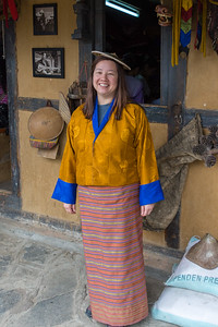 Julie in a traditional outfit
