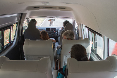 The best tour van I've ever rode in. Small opening windows on both sides allows for photos without glass in the way.