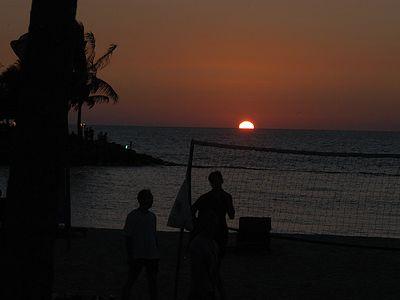 Sunset at tje Shangri-la