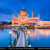 Asia - Brunei Sultanate - Borneo Island - Bandar Seri Begawan - Capital City - Sultan Omar Ali Saifuddien Mosque - One of the most beautiful Islamic mosques in Asia Pacific - Place of worship for Muslim community - Major landmark & tourist attraction of Brunei