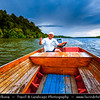 Asia - Brunei Sultanate - Borneo Island - Bandar Seri Begawan - Capital City - Kampong Ayer - Venice of the East - Water Village above Brunei River - Built entirely of stilt houses & wooden walkways