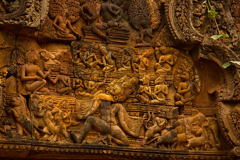 Releif carving, Angkor Thom