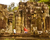 Mother and child at Angkor Thom