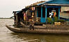 House in floating village on the Tonlé Sap at Kompong Chhnang
