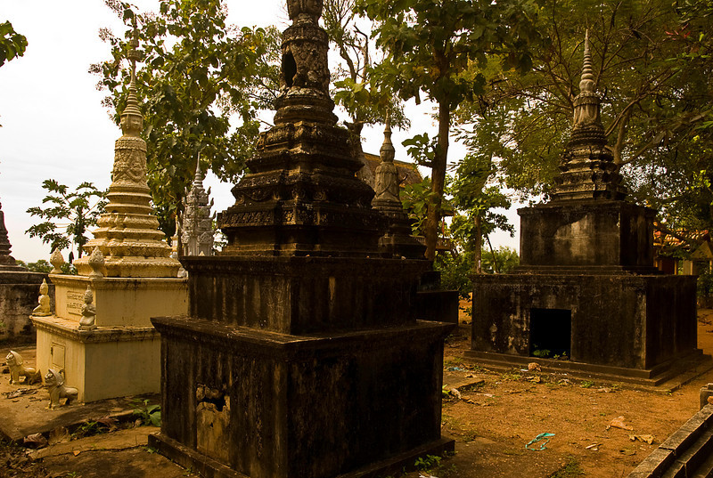 Buddhist cemetery at Kompong Cham temple complex