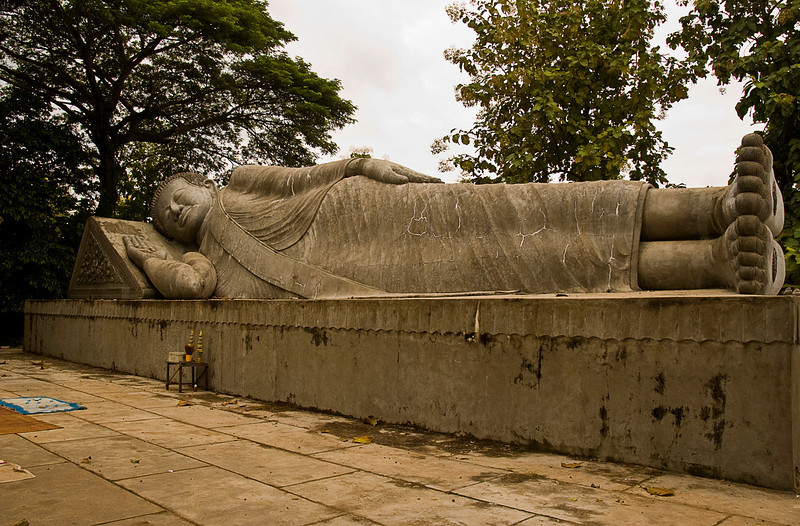 Reclining Buddha at Man and Woman Mountain temple complex
