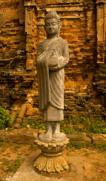Boddhisatva statue at Kompong Cham temple complex