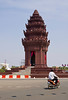 The Independence Monument celebrates Cambodia's liberation from French colonial rule in 1953.