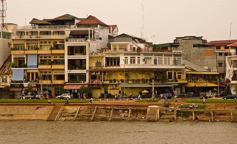 Phnom Penh Marine Parade from the Mekong River.