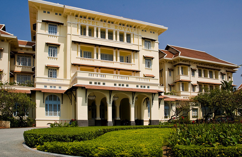 The Hotel le Royal is a beautiful remnant of the French Colonial period, built in 1929. It has been restored and is run by Raffles.