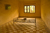 Second floor classrooms were used for mass detentions. Tuol Sleng held between 1000 and 1500 prisoners at a time.