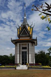 Phnom Penh, Cambodia Choeung Ek Memorial Stupa south of Phnom Penh.