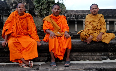 Monks at Angkor Wat, Siem Reap